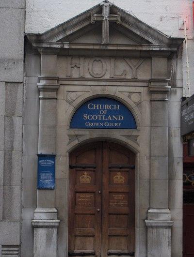 Front door of Crown Court church